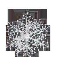 雪花 圣诞节装饰品 圣诞雪花片 圣诞节雪景圣诞雪花橱窗布置贴装饰 圣诞装饰品圣诞树 BX 21CM一箱(30包)