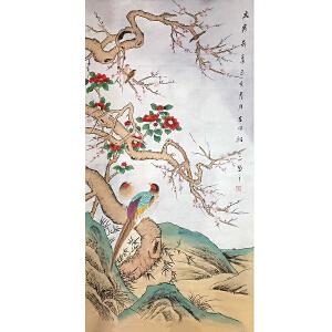 山东菏泽人,中国牡丹书画研究院院长吴绍正(岁寒奇香2)39