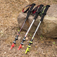 超轻碳素登山杖 外锁伸缩碳纤维手杖徒步拐杖户外登山装备