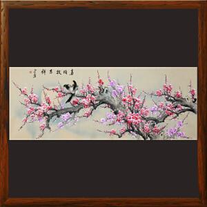 1.8米《喜梅报吉祥》许宏盛 甘肃美协会员 书画家协会常务理事R3307
