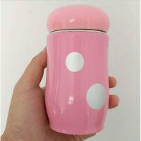 创意卡通不锈钢蘑菇杯儿童保温水杯广告杯礼品杯定制logo