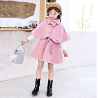 2018秋冬新款套装裙洋气时髦呢子儿童韩版时尚毛呢两件套女孩