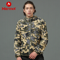 【书香节】Marmot/土拨鼠户外运动男士摇粒绒保暖迷彩时尚抓绒衣