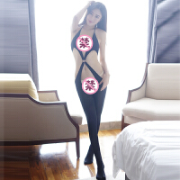 吊带诱惑情趣内衣开档连体性感丝袜制服诱惑套装 均码