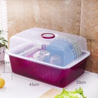 家用沥水厨房用品储物置物架餐具放碗架碟碗筷收纳盒碗柜收纳神器