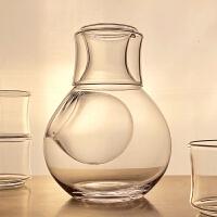 清酒冰酒器 鑫雅居 创意日式玻璃酒具冰酒壶套装无铅分酒器酒杯冰酒器清酒壶