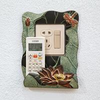 现代中式开关保护套开关贴树脂墙贴创意客厅卧室灯墙壁插座装饰贴