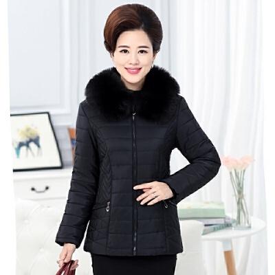 中老年女装冬装棉衣加厚妈妈装短款40-50岁中年棉袄外套