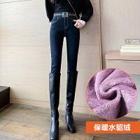秒变大长腿!加厚加绒牛仔裤超值秒杀!女2019冬季新款高腰修身显瘦显高小脚裤子
