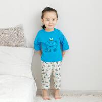 【专区99元任选4件】宝宝夏装纯棉男女童中袖套装婴儿衣服夏季T恤两件套