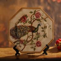 欧式家居饰品陶瓷摆设创意客厅装饰品摆件工艺品摆盘酒柜装饰盘
