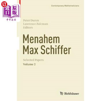 【中商海外直订】Menahem Max Schiffer: Selected Papers Volume 2