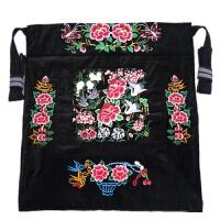 背带婴儿背巾绣花薄款抱袋背被前抱后背 升级版黑色双鹤吉祥