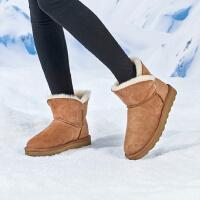 �W易�肋x 起程 女士羊皮毛一�w雪地靴