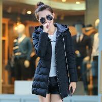 08棉衣女中长款韩版修身显瘦加厚冬季外套棉袄学生装工装