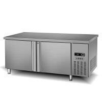 不锈钢冷藏工作台冰柜商用冷藏冷冻双温保鲜操作台家用厨房专用 1800x600x800cm 冷藏