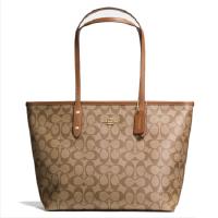 限量低价 蔻驰COACH36876 中号购物袋 单肩包 PVC配皮手提包 女包 F58292现货