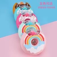 甜甜圈水杯儿童吸管杯水壶卡通杯子新款创意可爱塑料杯网红吸管杯380ML