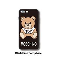moschino泰迪熊iphone8plus手机壳苹果6s保护套7硅胶软壳可爱卡通
