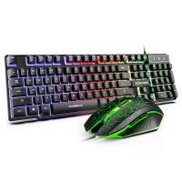 机械手感键盘鼠标套装键鼠台式电脑游戏专用牧马人电竞联想笔记本外接
