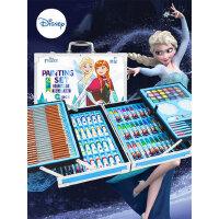 迪士尼儿童水彩笔画笔礼盒画画工具小学生绘画套装美术彩色笔幼儿园可水洗彩笔带画架颜色笔礼盒女孩生日礼物