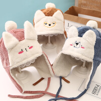 宝宝帽子秋冬季保暖厚绒款可爱婴儿帽子2-5岁