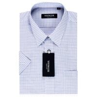 雅戈尔旗舰店商务正装男新款夏格子免烫短袖衬衫SDP12083KJA