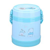 保温儿童不锈钢保温桶塑料双层提锅学生便携式午餐饭盒