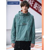 2.5折价:149;Lilbetter工装外套男韩版潮流秋季男装半拉链冲锋衣宽松运动夹克