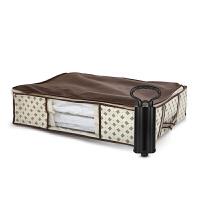 收纳箱大号50L衣柜床底储物箱折叠透明可视真空压缩箱衣服被子玩具整理箱