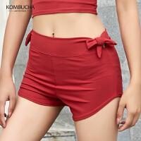 【新春特惠价】Kombucha瑜伽健身短裤女士速干透气弹力修身运动休闲短裤JCDK656