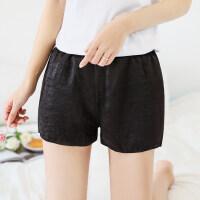 2018夏安全裤 可外穿女士三分打底裤春夏薄款保险裤宽松短裤 黑色 S