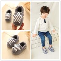 儿童拖鞋冬季宝宝棉拖鞋厚款1-4岁儿童男女童毛毛鞋包后跟棉鞋