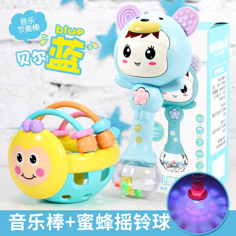 婴儿摇铃玩具0-3-6-12个月手摇铃男孩子儿女软胶1岁