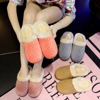 冬季男士棉拖鞋室内居家家用家居保暖厚底防滑情侣冬天毛拖鞋女冬