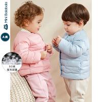 迷你巴拉巴拉婴儿羽绒服男女宝宝轻薄便携羽绒外套2019冬新款童装