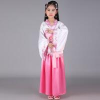 儿童汉服古代汉唐朝古装乐器古筝舞蹈唐装女孩表演出服装