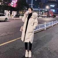 棉衣女中长冬装韩版宽松棉袄加厚女士显瘦外套
