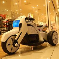 两三岁小孩玩的婴儿电车 宝宝儿童电动摩托车三轮车充电玩具车男女小孩童车可坐人遥控电车 炫酷白 早教+双电瓶+单驱动