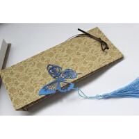 古典流苏金属书签蝴蝶玫瑰不锈钢创意礼品