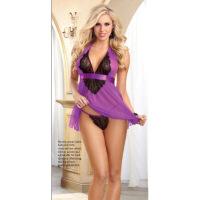 肥妞胖女人加大码性感情趣内衣性感诱惑套装透明紫色性感情趣内衣 紫色