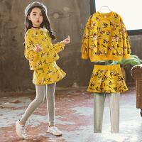 儿童秋季2018新款套装裙韩版中大童春秋季卫衣两件套裙