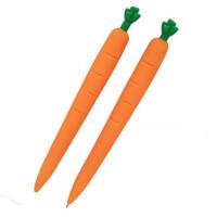 一正5391胡萝卜自动铅笔 0.7mm软胶活动铅笔 创意造型铅笔 一卡装