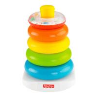 宝宝层层叠儿童摇铃圈 不倒翁式彩虹叠叠乐玩具 N8248 花色