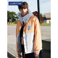 2.5折价:370;Lilbetter羽绒服男短款撞色冬季外套潮流冬装宽松工装运动羽绒服