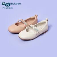 【秒�⒅苯�r:109.9元】迷你巴拉巴拉女童鞋公主鞋�和�鞋子2020新款魔�g�N童鞋�底皮鞋
