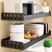 厨房置物架加宽平板免打孔墙上壁挂式多功能挂架调料架子收纳神器