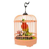电动声控感应小鸟玩具 会叫会动 发声鸟笼单鸟 222-87 颜色随机