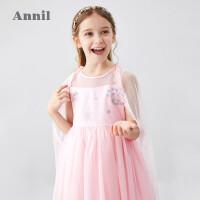 【2件3折价:199.5】安奈儿童装女童连衣裙2020夏装新款洋气中大童女孩礼裙网纱公主裙