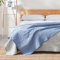 【一口价】 100%棉的柔和慵懒 日式水洗棉绗缝盖毯